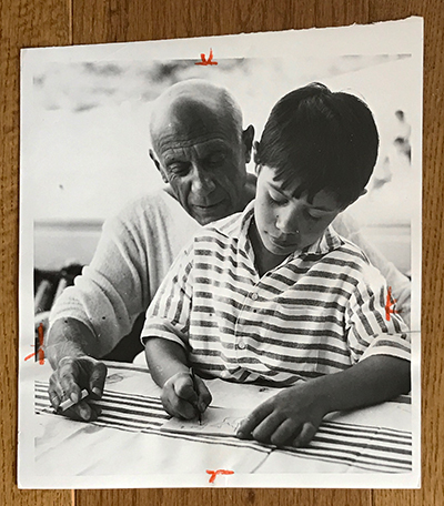 Pablo Picasso with Claude