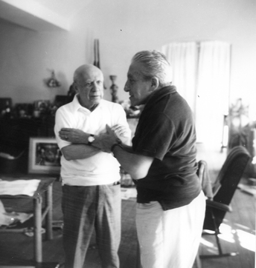 Picasso and Joan Prats by Andre Gomes