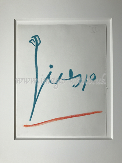 Pablo Picasso Signature drawing