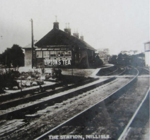 Old image of Millisle Station, Garlieston
