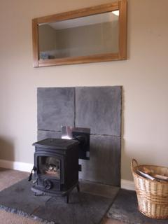 Woodburner in the cosy lounge