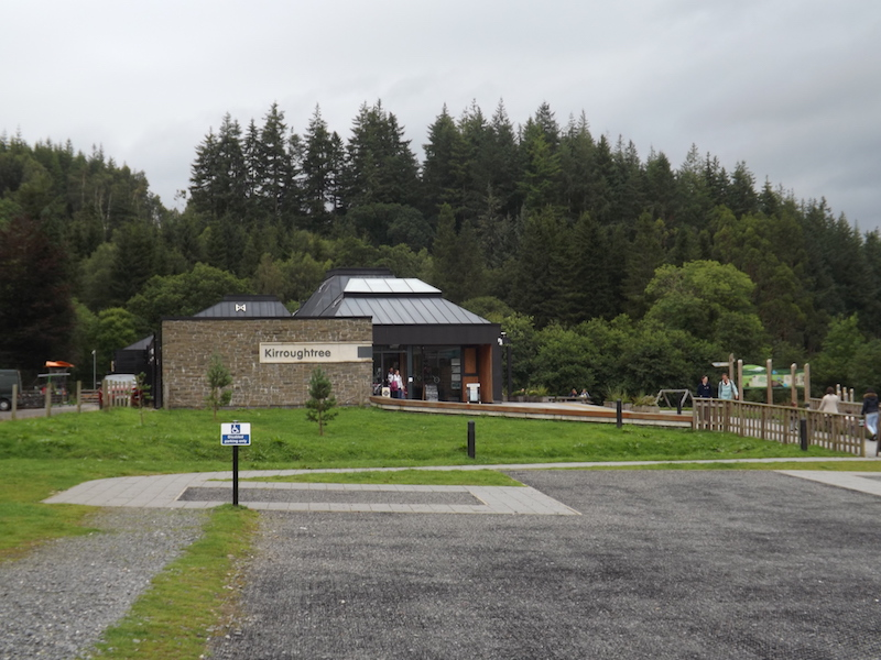 The new visitor centre at Forestry Commission Scotland's Kirroughtree site near Newton Stewart