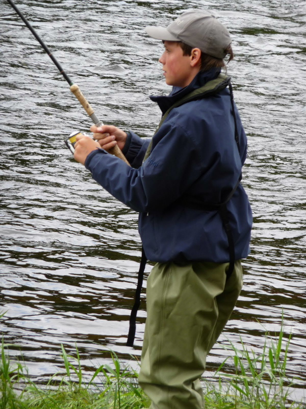 Salmon and trout fishing on the river Bladnoch near Newton Stewart