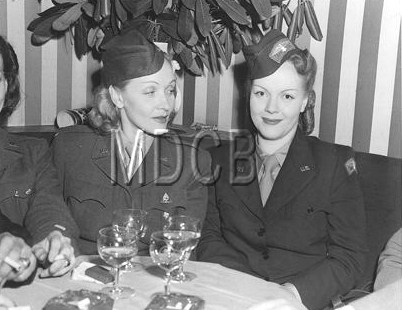 Marlene Dietrich with Maria Riva 1945