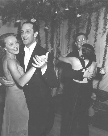 Marlene Dietrich with Basil Rathbone
