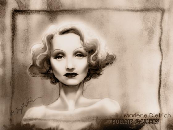 Marlene Dietrich by Michal Szyksnian