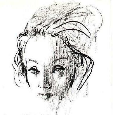 Marlene Dietrich by Rene Bouche
