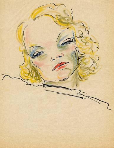 Marlene Dietrich by Benedikt Fred Dolbin
