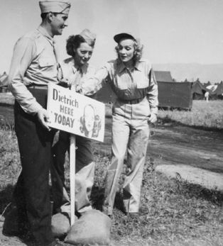 Marlene Dietrich USO Tour 45th inf
