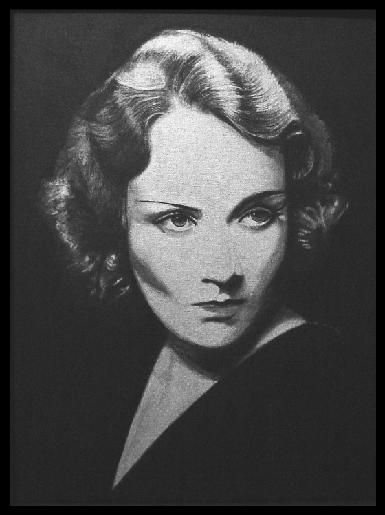 Marlene Dietrich by Mark Hebblewhite