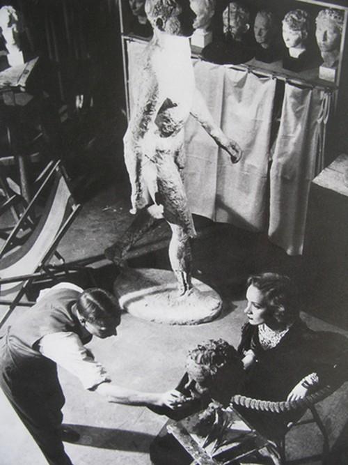 Marlene Dietrich Sculpture by Ernesto De Fiori