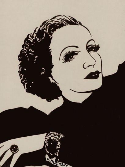 Marlene Dietrich by Haim Kano