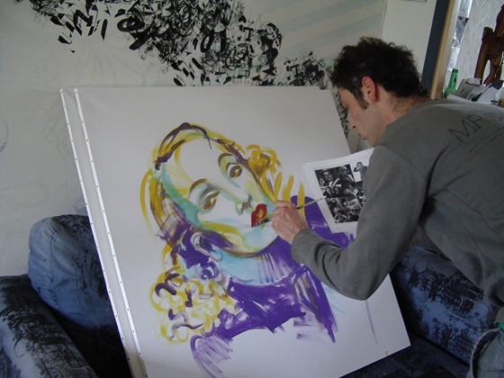 Marlene Dietrich by Hoel DeuG