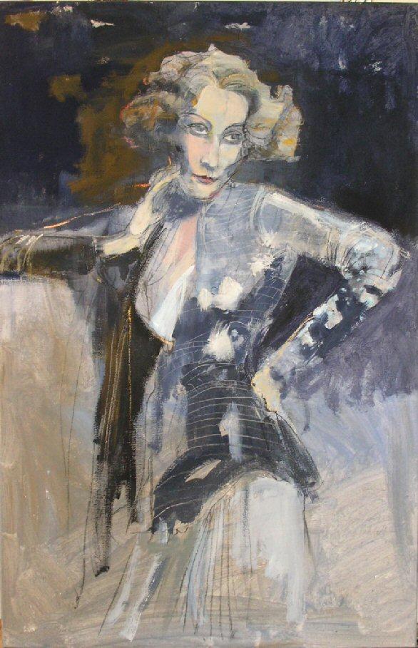 Marlene Dietrich by Eberhard Hueckstaedt