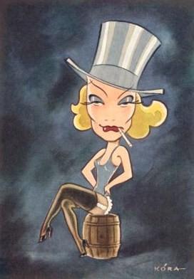 Marlene Dietrich by Kora