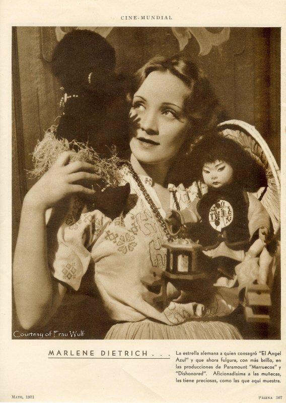 Marlene Dietrich Lenci Dolls, Linda Wulfestieg