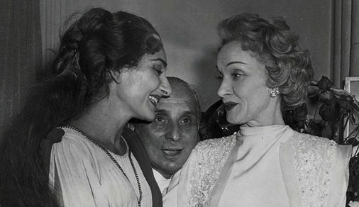 Marlene Dietrich with Maria Callas