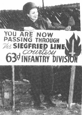 Marlene Dietrich 63rd Infantry sign