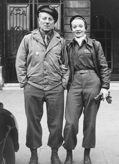 Marlene Dietrich with Jean Gabin 1945