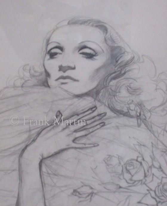 Marlene Dietrich by Frank Martin