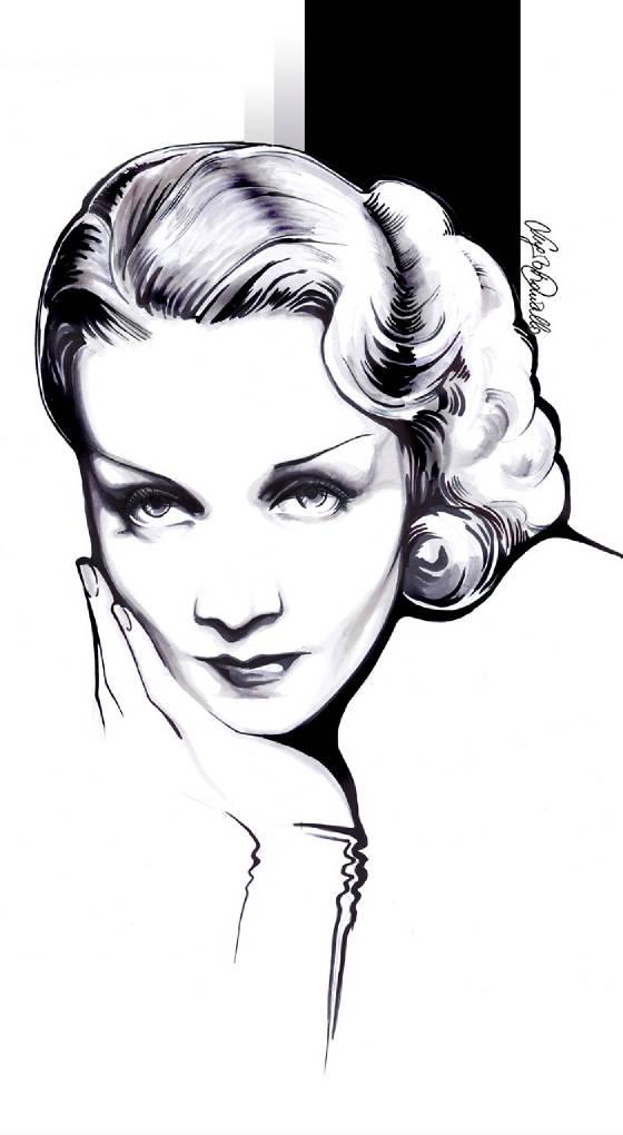 Marlene Dietrich by Sergio Daricello