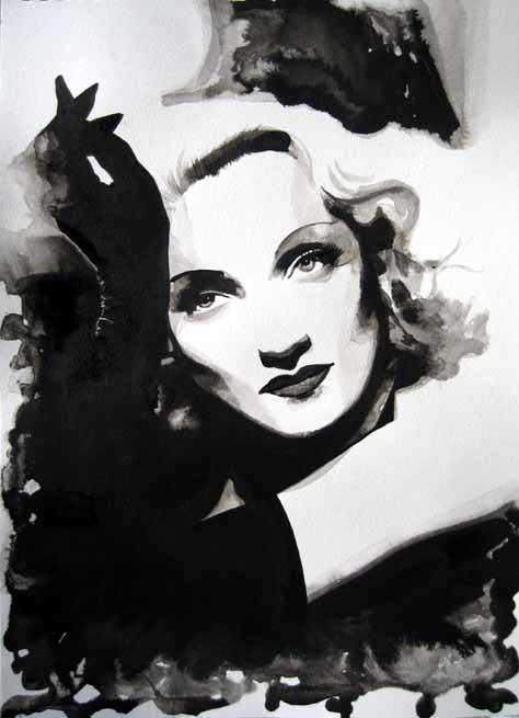 Marlene Dietrich by Carol Ryder
