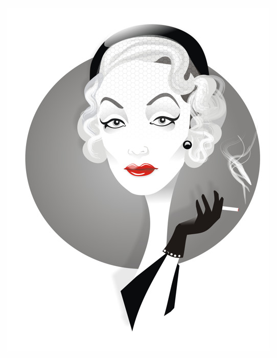Marlene Dietrich by Nicoleta Ionescu