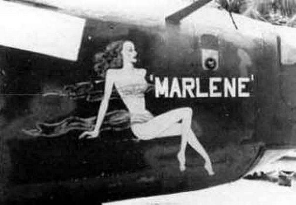 Marlene Dietrich B24 Bomber