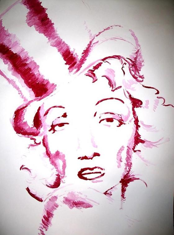 Marlene Dietrich by Krzysztof