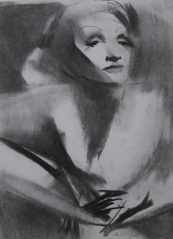 Marlene Dietrich by Stephen B Whatley