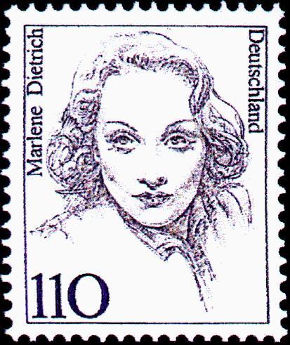 Marlene Dietrich Stamp by Gerd Aretz
