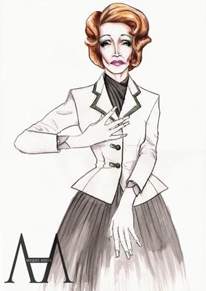 Marlene Dietrich by Miquel Angell