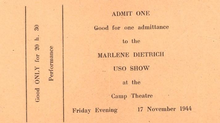 Marlene Dietrich Concert USO