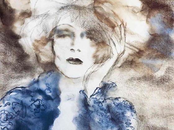 Marlene Dietrich by Antonio Lopez