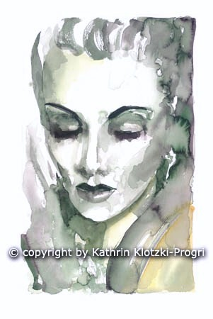 Marlene Dietrich by Kathrin Klotzi-Progri
