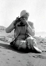 Marlene Dietrich with Camera