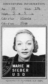 Marlene Dietrich ID card