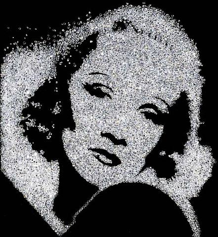 Marlene Dietrich Diamonds Vik Muniz
