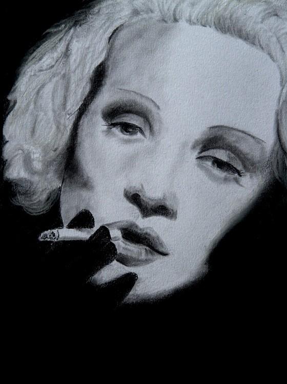 Marlene Dietrich by Stefania Giulli Alfier