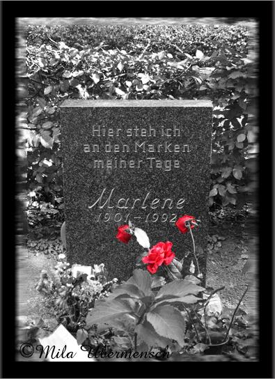 Marlene Dietrich RIP Berlin by Mila Ubermensch