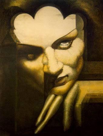 Marlene Dietrich by Octavio Ocampo