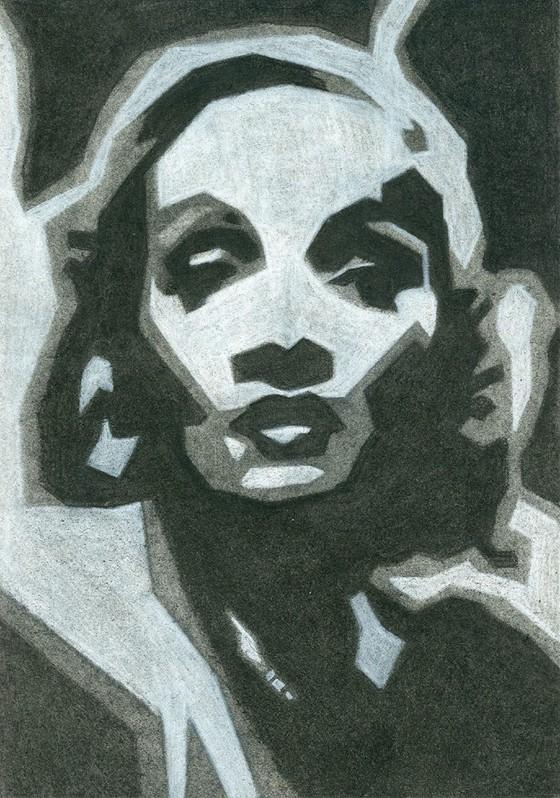 Marlene Dietrich by Peg Mcmahan