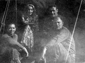 Marlene Dietrich with 63rd Infantry Band Members