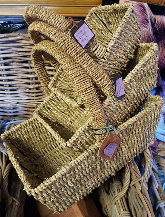 Seagrass rectangle baskets