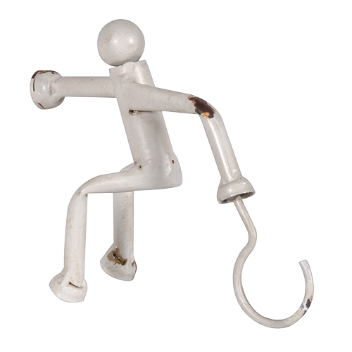 Man scaling wall hook