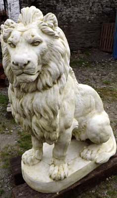 Large concrete lions