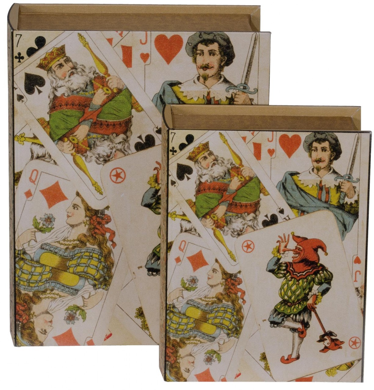 Deck of cards storage book boxes