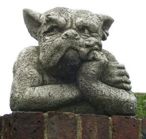 Gargoyle with head in hand