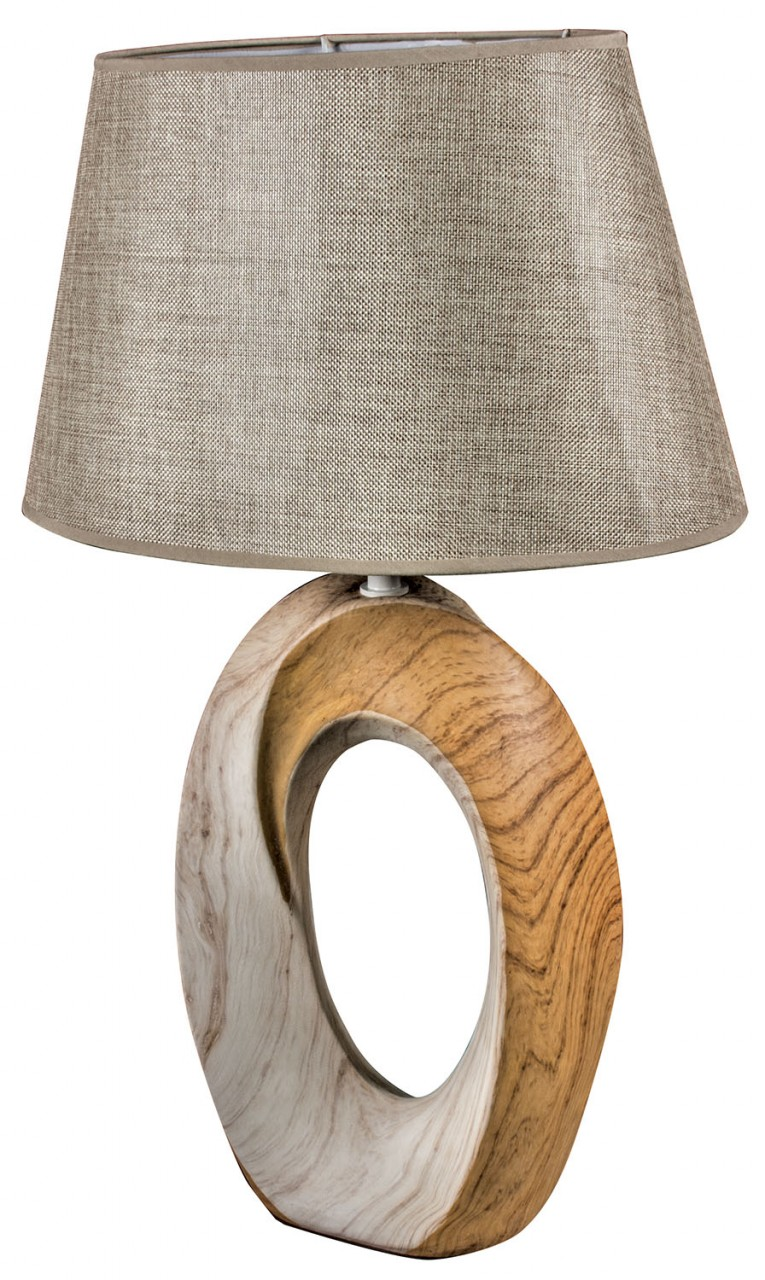 wooden based lamp