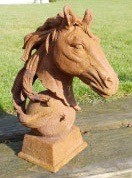 Rusty Horse Head Left/Right facing